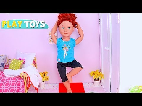 Our Generation Doll Morning Routine with Yoga Exercise and Bath Time Toys! 🎀