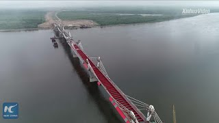 Highway bridge linking China and Russia to be completed in October