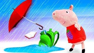 Фото Мультики для детей - Пеппа проспала школу Свинка Пеппа новая серия