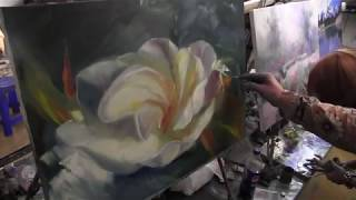 Научиться рисовать цветы, художник Сахаров, уроки живописи для начинающих 1
