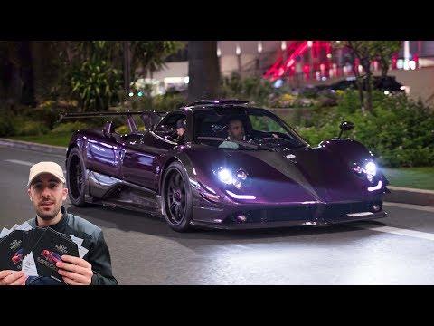 Lewis Hamilton sort SA PAGANI + concours Top Marques Monaco (CarSpotting)