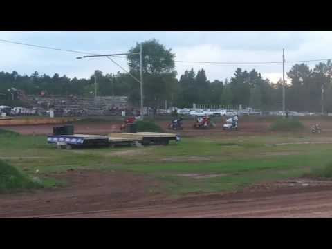 7R Micro Sprint Heat Race Tomahawk 7/22/17