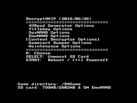 [3DS]Decrypt9 - Dump 3DS cartridges to CIA and NDS cartridges