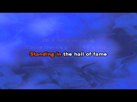 The Script - Hall Of Fame Karaoke / Lyric Video