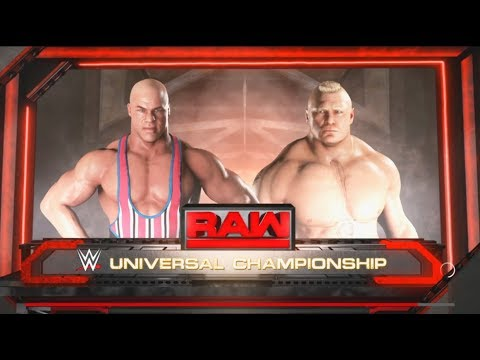 WWE-2K18-Kurt Angle vs. Brock Lesnar- Extreme Rule  Match-WW
