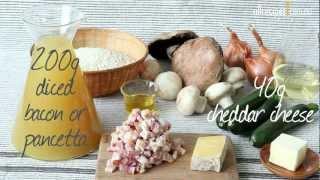 Zucchini, Bacon and Mushroom Risotto