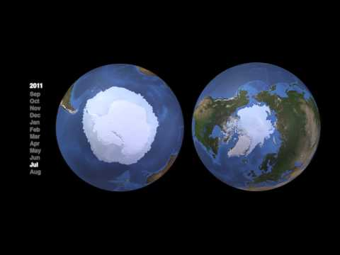 Seasonal Changes In Snow And Ice Around The Globe