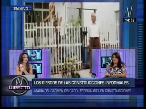 Interview with Maria del Carmen Delgado at Canal N
