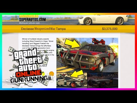 GTA ONLINE GUNRUNNING DLC WEAPONIZED WAR TAMPA NEW DETAILS, INFO & MORE YOU NEED TO KNOW! (GTA 5)
