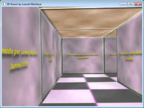 A Simple 3D Room made with DirectX and C++   codeNtronix