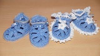 Вязание пинеток крючком подробный мастер-класс //// Crochet knitting bootees detailed master class