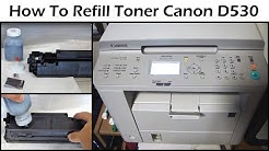 How To Refill Toner For Canon D530 Laser Printer - Cartridge 128