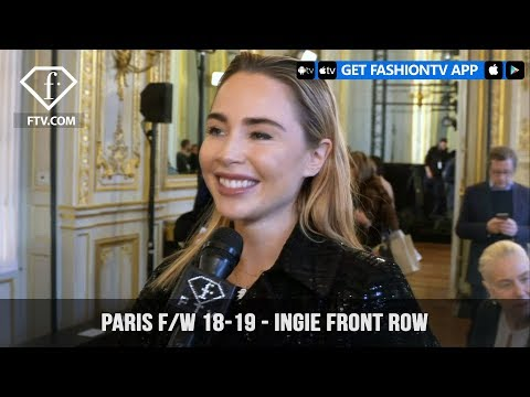 Jasmine Saunders Attends Ingie Paris Fashion Week F/W 2018-1