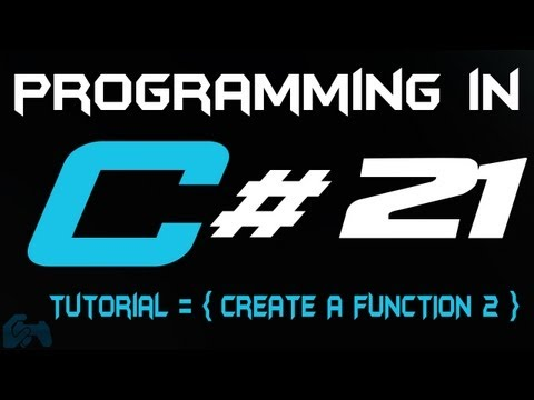 Programming in C Tutorial 21: Create a Function [2] [HD]