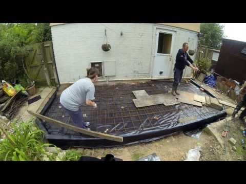 Starting the base on the new conservatory