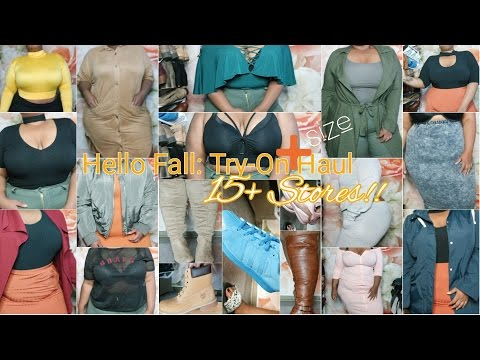 Hello Fall | Try-On Haul | 15+ Stores! | Plus Size 2016 - part 1