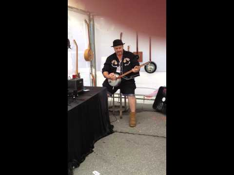 Tin Box Guitar Player - Des Moines Art Festival 2014