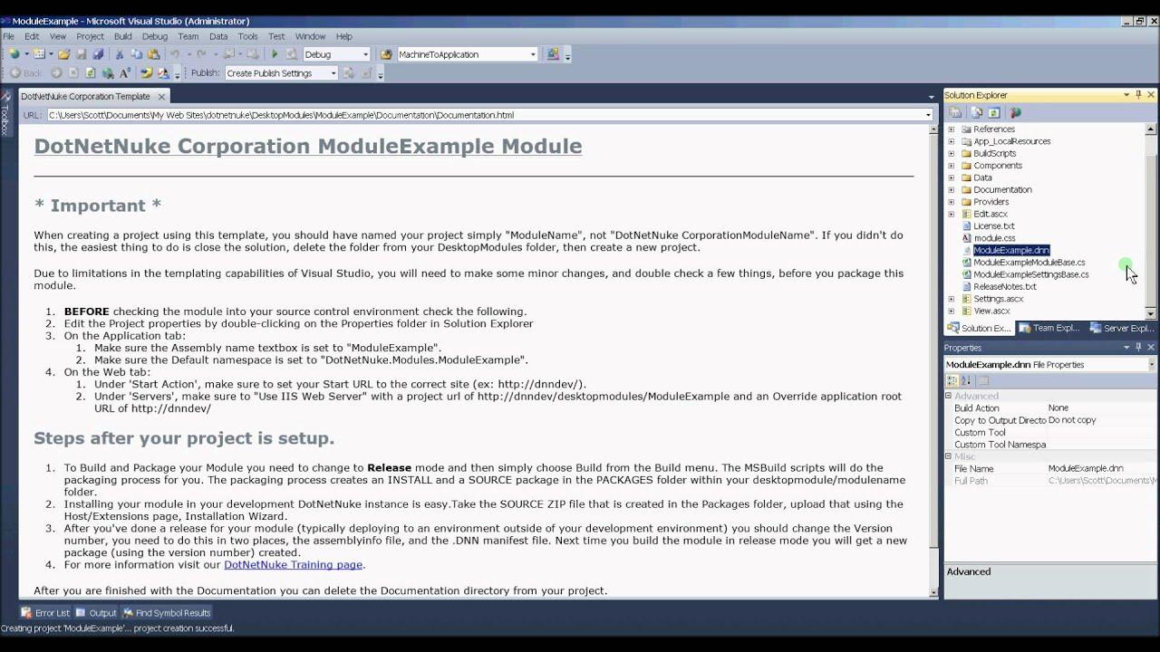 DotNetNuke Module Development - Part 2 Video 2 of 3 - YouTube