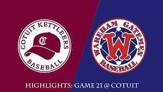 Gatemen Baseball Network Highlights: Wareham Gatemen @ Cotuit Kettleers (7/4/18)