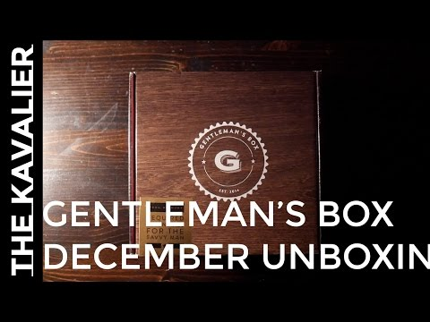 First Delivery - Gentleman's Box December 2016 | Unboxing And Review