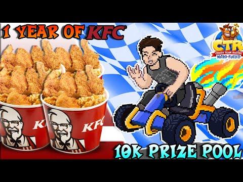 A YEAR'S SUPPLY OF KFC IF I WIN!?!?! KFCgaming Crash Team Racing Tournament!