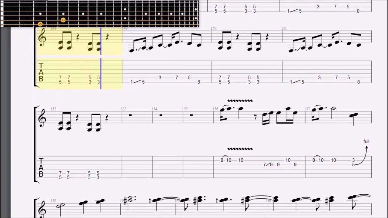 Led Zeppelin Stairway To Heaven Solo Tabs Youtube