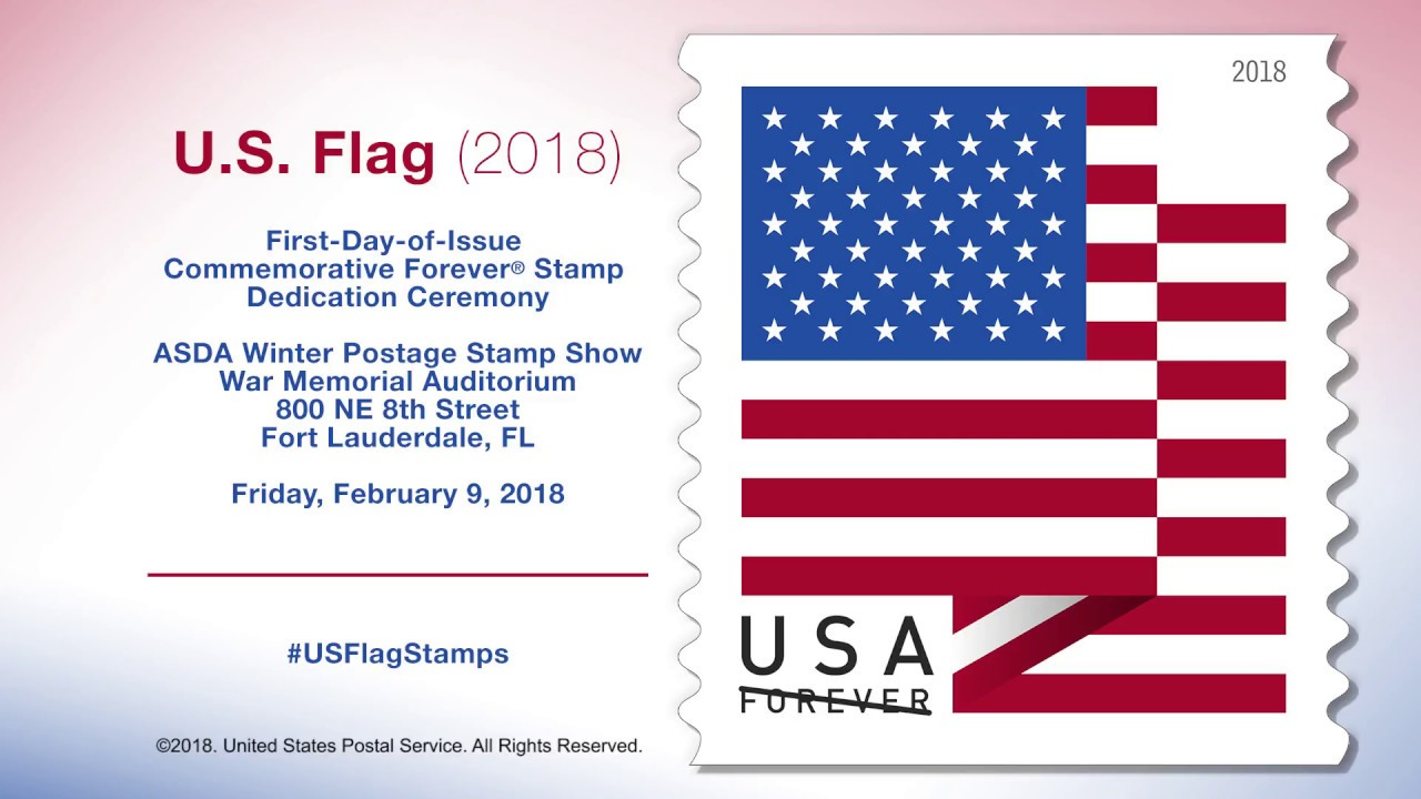 Us Flag 2018 First Day Of Issue Forever Stamp Dedication Ceremony - United-states-forever-stamps