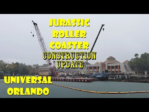 Universal Orlando Resort Jurassic Roller Coaster Construction Update 10.8.19 Getting Busy!