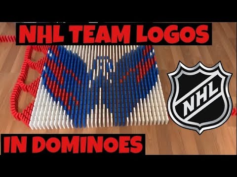 All 31 NHL logos in dominoes