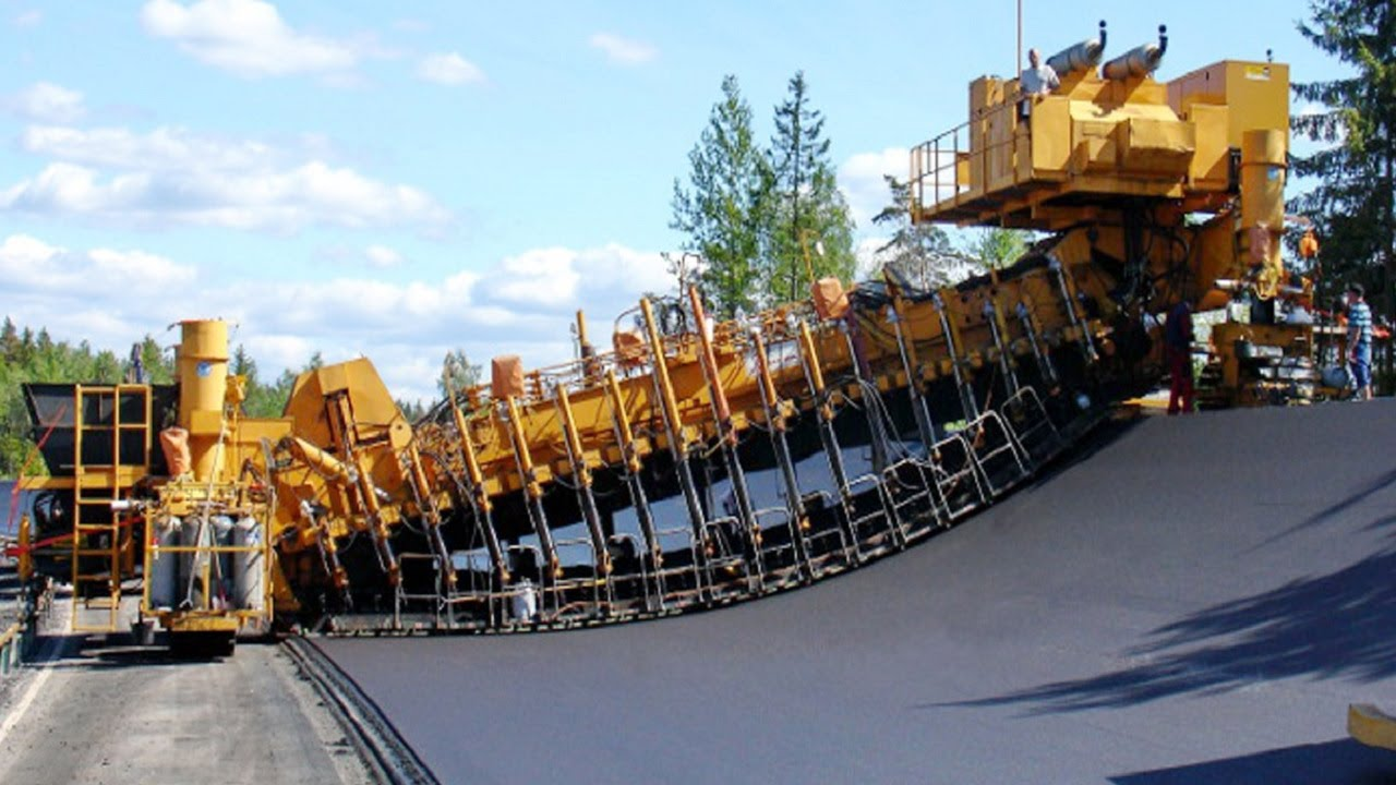 Incredible Fastest Asphalt Paving Equipment Machines - Amazing Modern Road Construction Machine