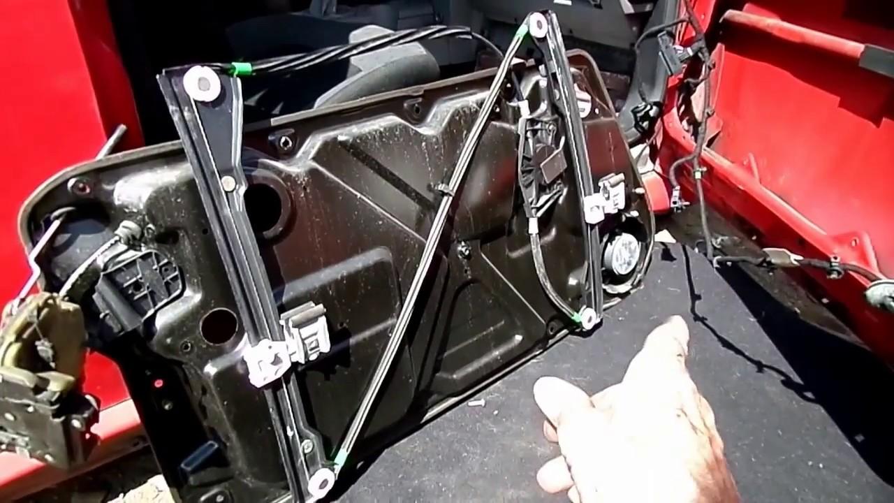 vw new beetle window motor regulator removal