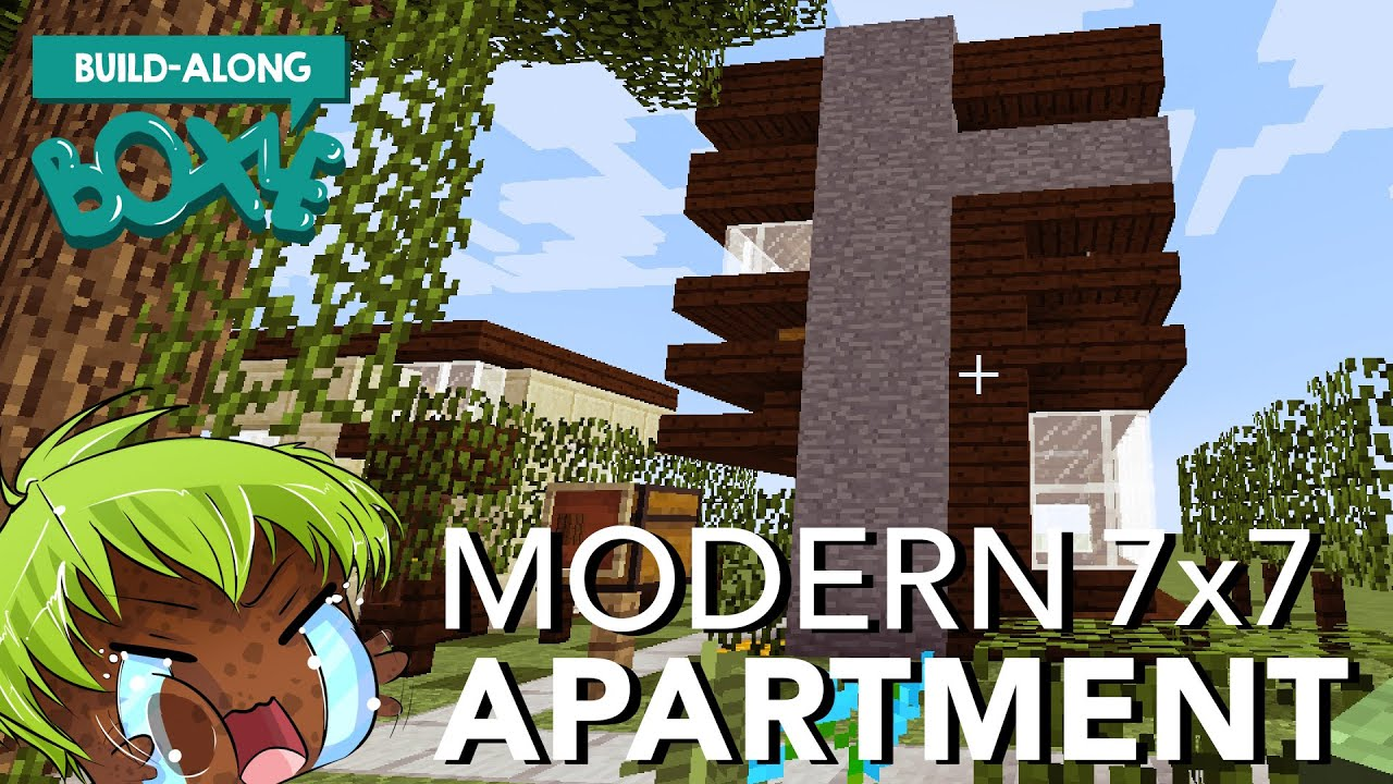 Boxle build along 7x7 modern minecraft house youtube for 7x7 modern house