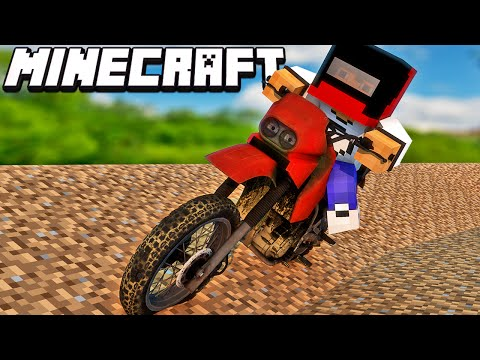 Minecraft Mods: Motocross No Minecraft - Mod Dirtbike