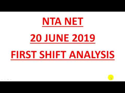 NTA NET - 20 JUNE FIRST SHIFT ANALYSIS ||  VERY EASY MUST WATCH