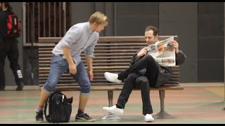 Three legged Man PRANK!👟👟👟-Julien Magic