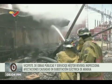 Nestor Reverol visita subestación en Aragua tras explosión que causó fallas eléctricas