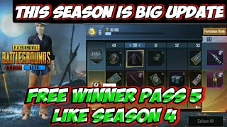 Free Winner pass 5 | Pubg Mobile Lite new season | Big Update