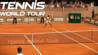 Tennis World Tour - Stefanos Tsitsipas vs Rafael Nadal - PS4 Gameplay