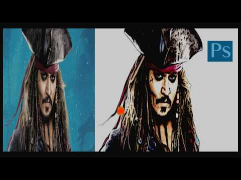 How to turn photos into cartoon effect photoshop tutorial step 01 johnny-depp) thumbnail