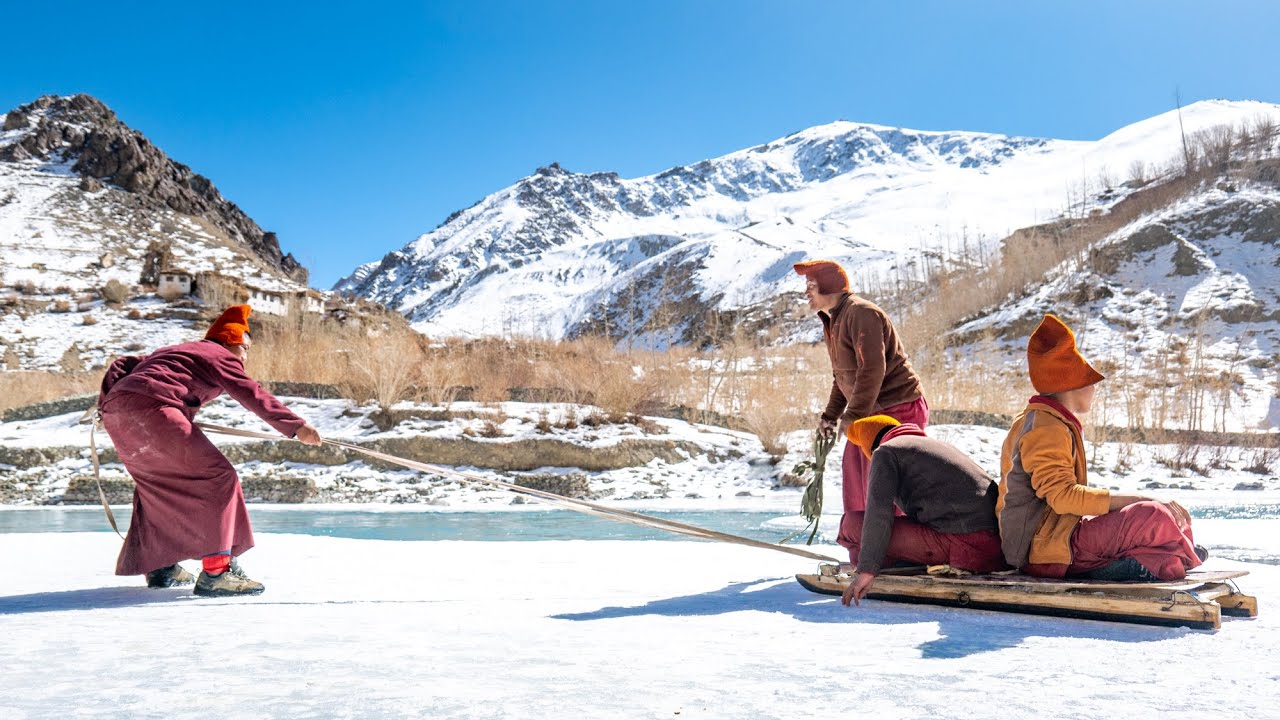Experiencing Winter Life at the Phukthar Monastery, #Zanskar