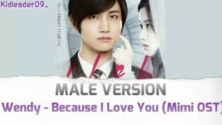 Wendy (웬디) - Because I Love You (슬픔속에 지워야만 해) | MALE VERSION | Kidleader09_