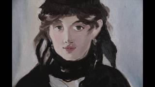 Портрет Берты Моризо, Эдуард Мане, 1 часть, полный видеоурок, копируем импрессионизм