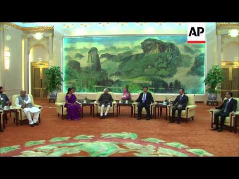 Indian Vice President Hamid Ansari meets Chinese President Xi Jinping
