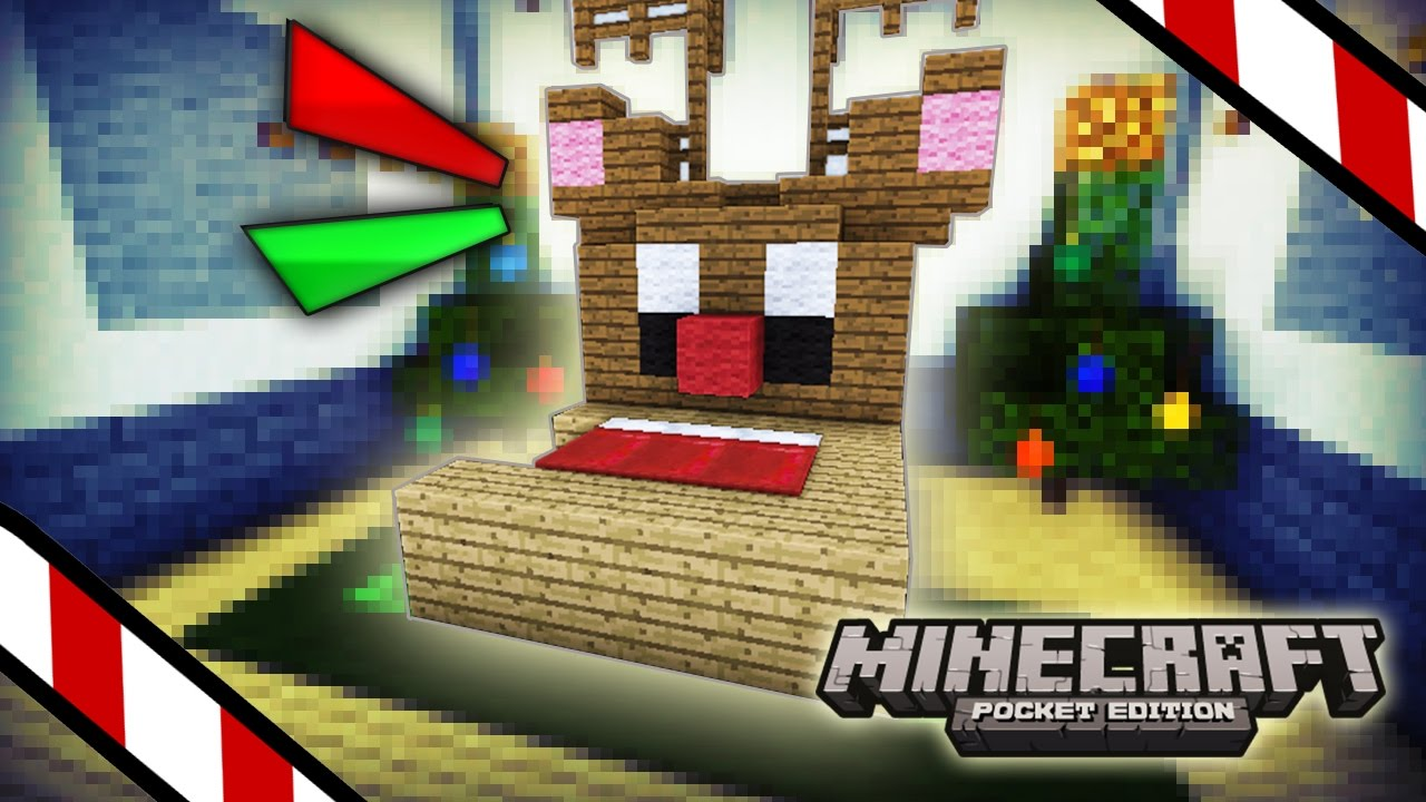 Minecraft pe como hacer una pica cama navide a - Como hacer decoraciones navidenas ...
