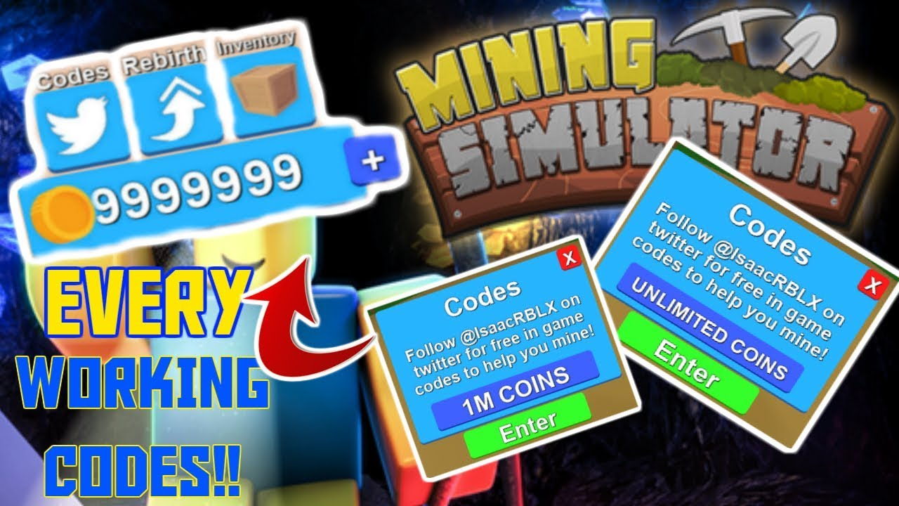 All Working Codes In Mining Simulator Youtube
