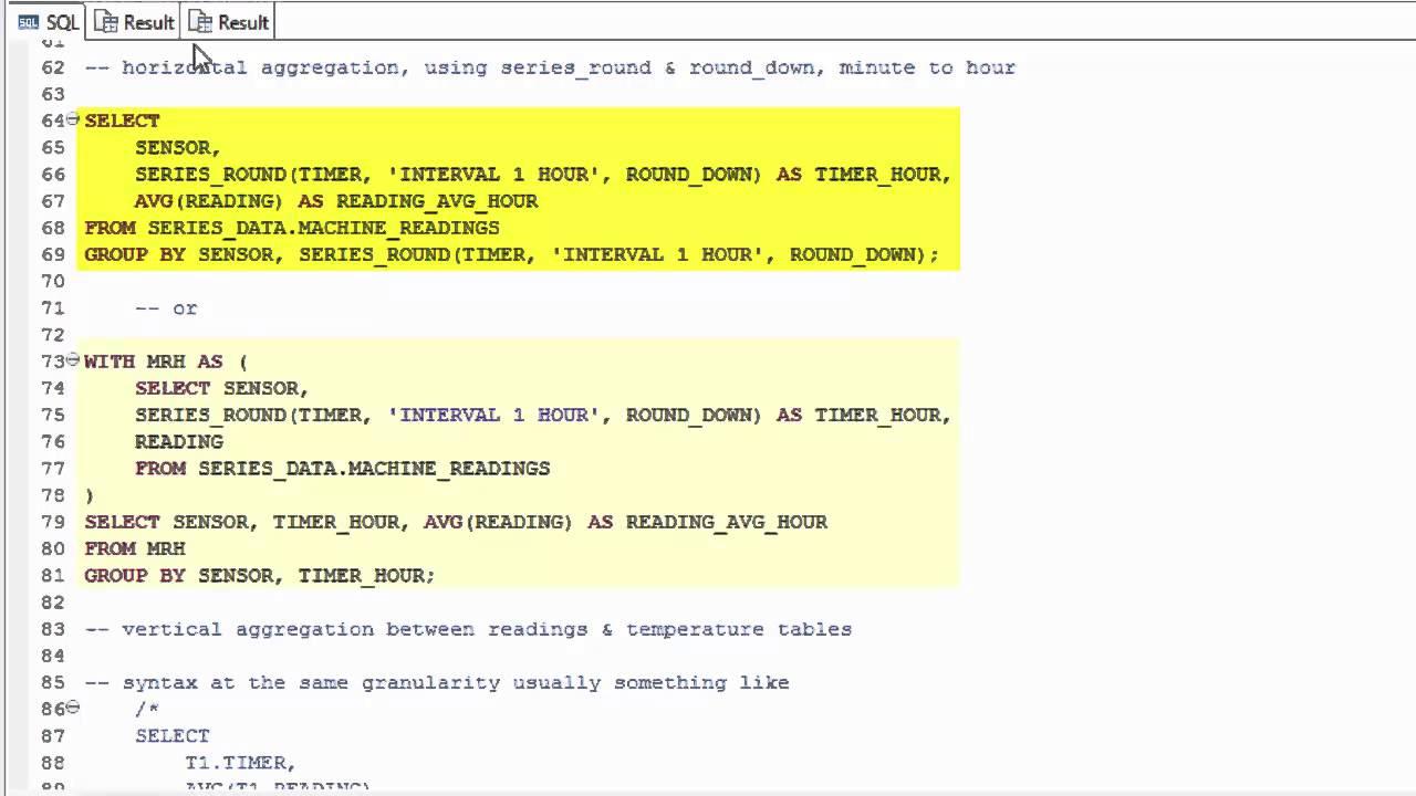 SAP HANA Academy - Series Data: Horizontal and Vertical Aggregation