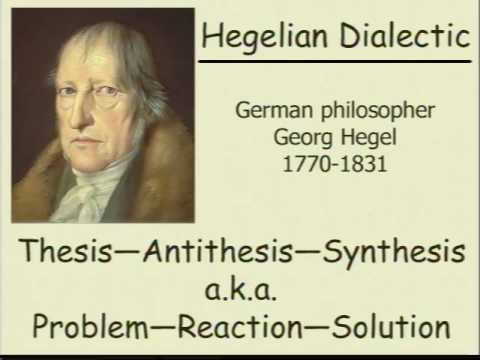 the hegelian dialectic of problem reaction Who here is familiar with the hegelian dialectic and who wants to know more about it, or learn for the first time problem reaction solution.