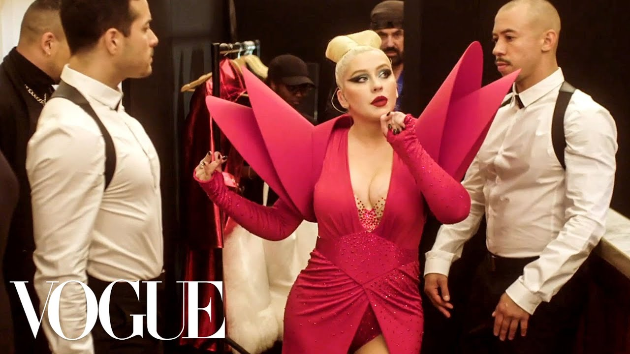 Christina Aguilera Gets Ready for the Gareth Pugh Fashion Week Party