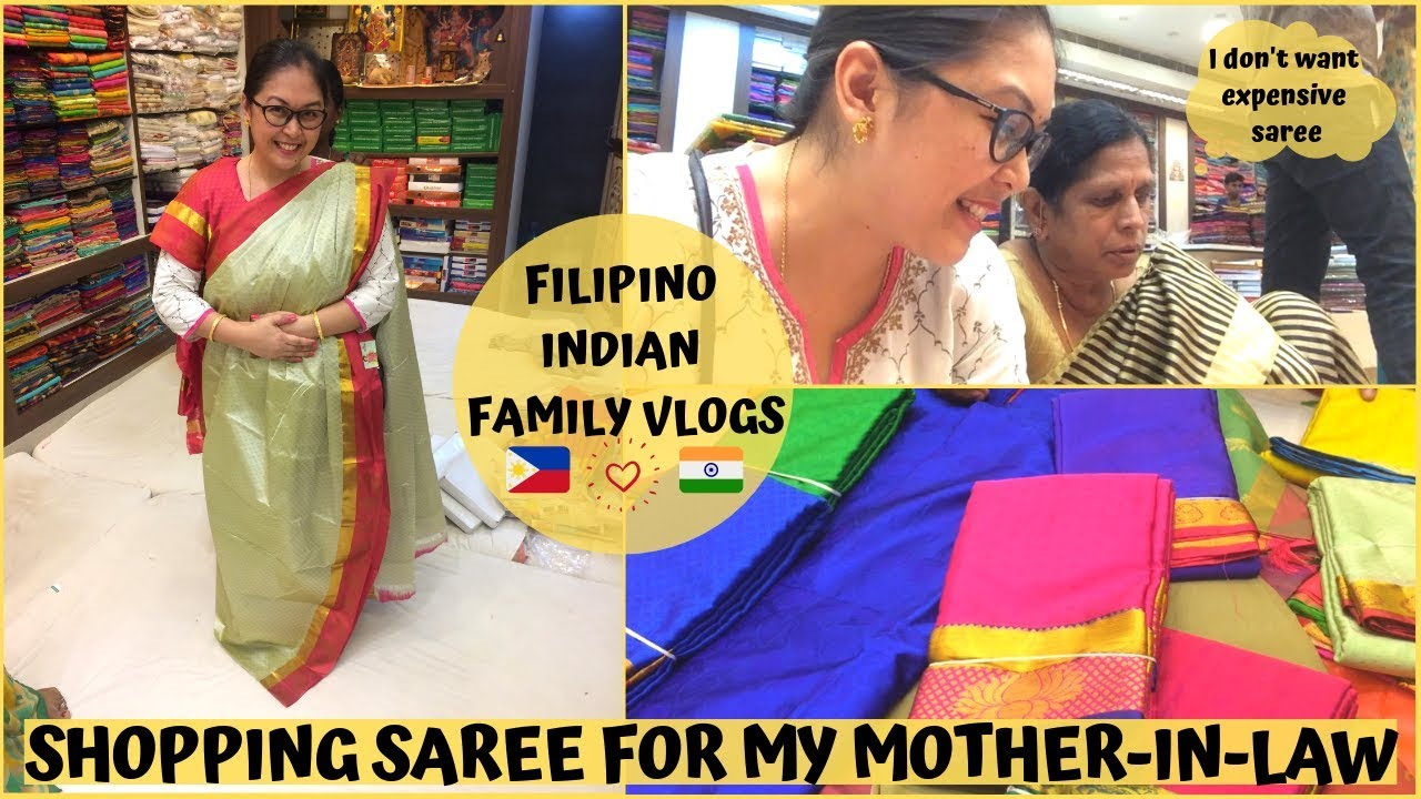 SHOPPING SAREE FOR MY MOTHER-IN-LAW | Filipino Indian Family Vlog # 80