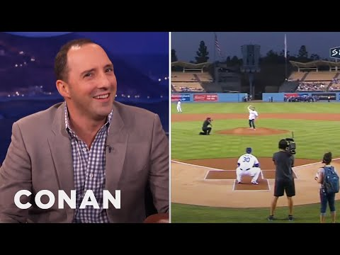 Tony Hale's Crappy Opening Pitch  - CONAN on TBS